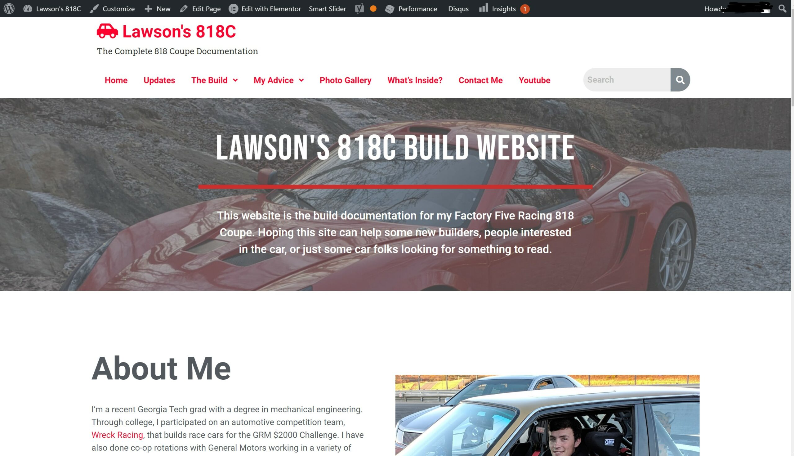 Version 2 of Lawson's 818C Website